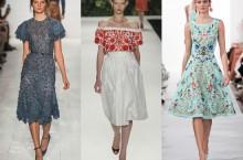 О модных платьях 2014 года