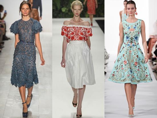 Фото моделей в модных платьях