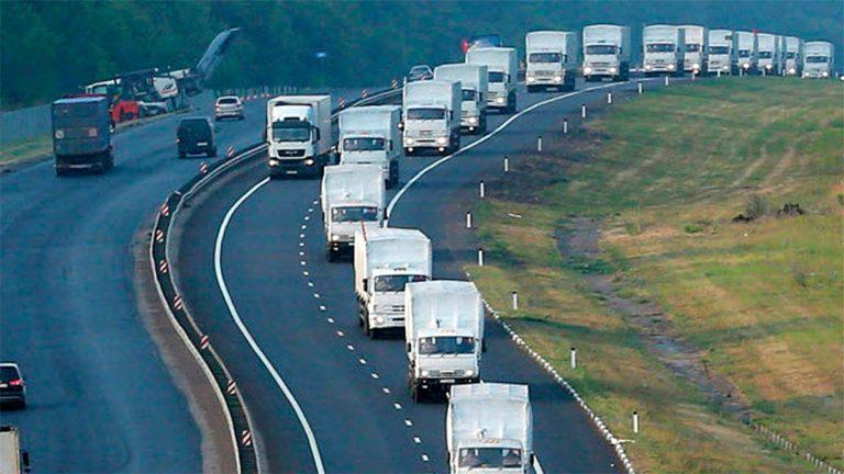 Новый гуманитарный конвой от МЧС России (новости России — Украины 06.04.2015)