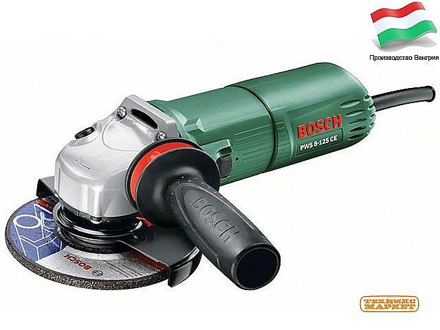 Углошлифовальная машина Bosch PWS 8-125 CE