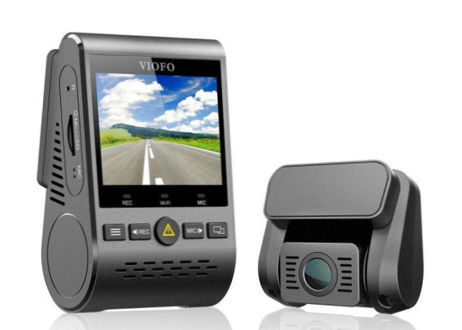 Что представляет из себя двухканальный видеорегистратор VIOFO A129 Duo с GPS с двумя камерами и WiFi?